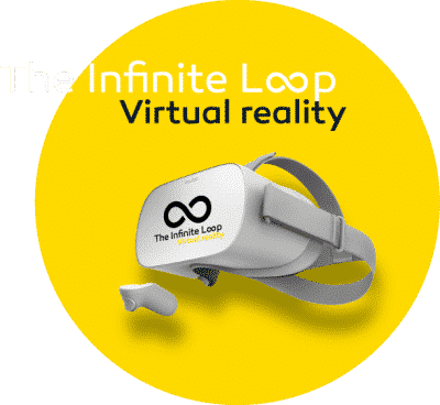 the infinite loop virtual reality logo