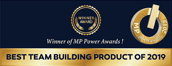 The infinite loop award for the best teambuilding product during MP awards